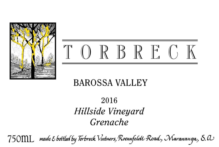 2016 Torbreck Grenache Hillside Vineyard