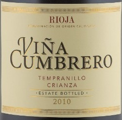 Vina Cumbrero Rioja Crianza - Click Image to Close