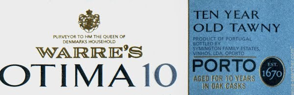 N.V. Warre's 10 Year Old Tawny Porto Otima 500 ml