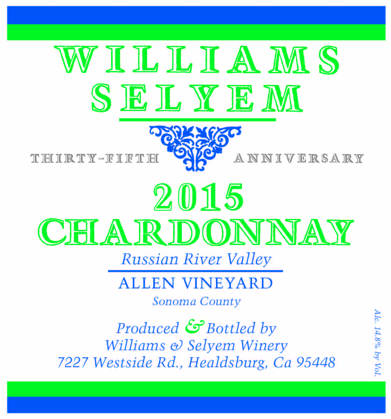 2015 Williams Selyem Chardonnay Allen Vineyard