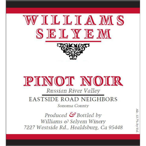 2017 Williams Selyem Pinot Noir Eastside Road Neighbors