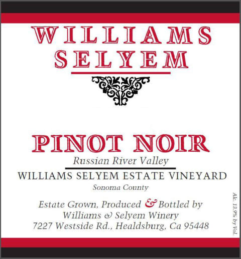 Williams Selyem Pinot Noir Estate Vineyard