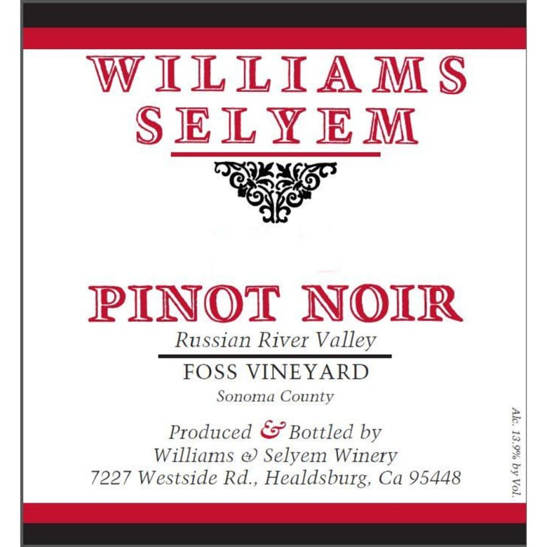 2017 Williams Selyem Pinot Noir Foss Vineyard