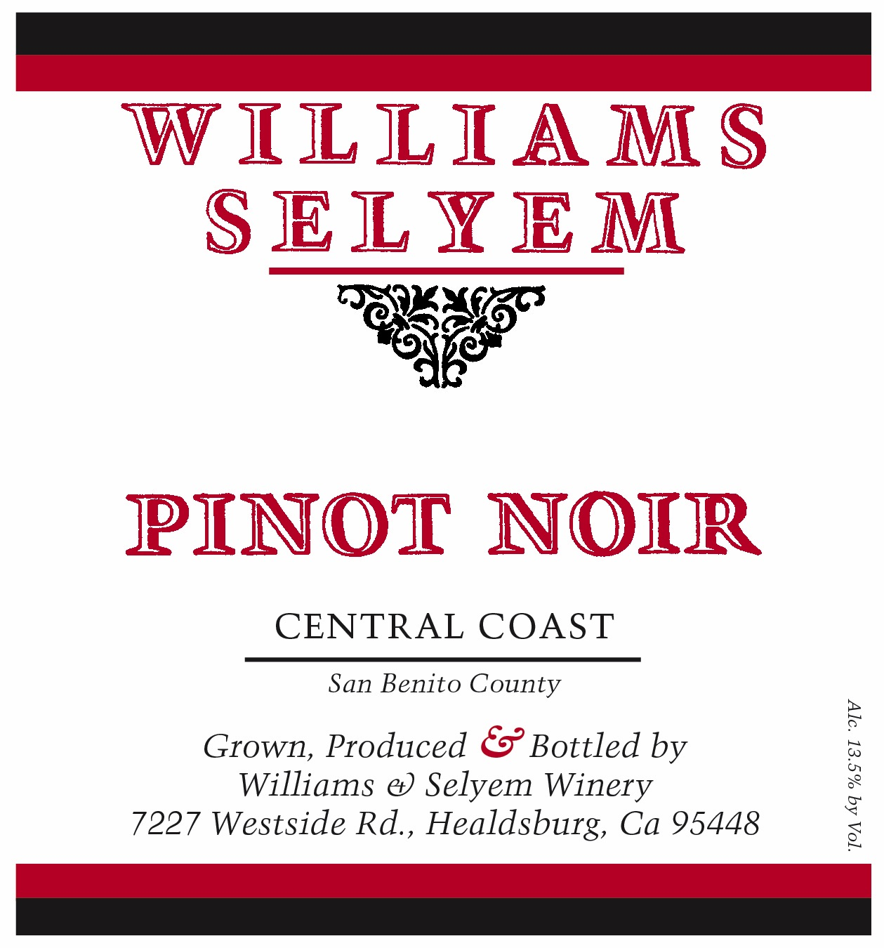 Williams Selyem Pinot Noir Central Coast
