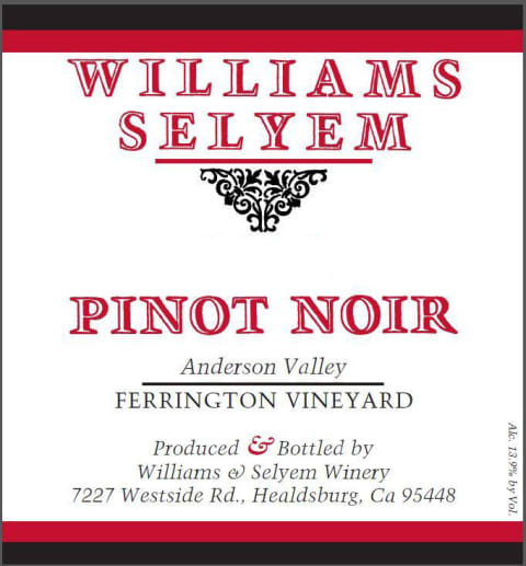 2017 Williams Selyem Pinot Noir Ferrington Vineyard
