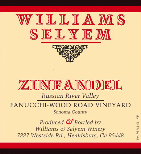 2019 Williams Selyem Zinfandel Fanucchi-Wood Road Vineyard