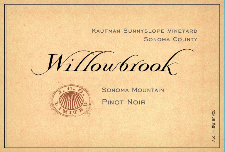 2014 Willowbrook Pinot Noir Kaufman Sunnyslope Vineyard
