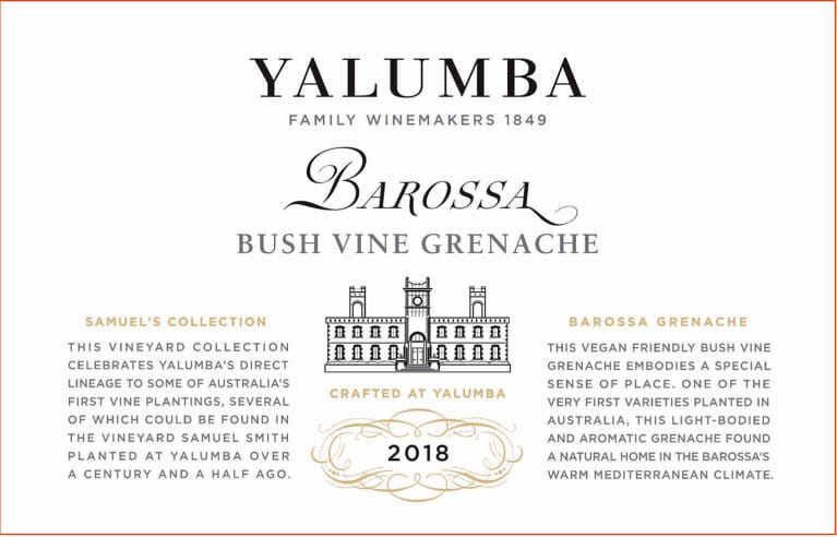 2018 Yalumba Grenache Old Bush Vine