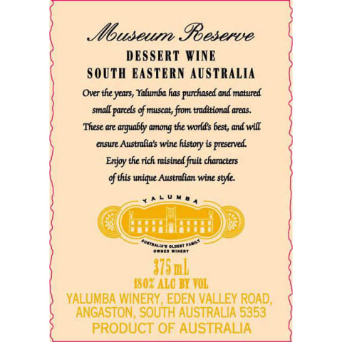 NV Yalumba Museum Reserve Muscat 375 ml
