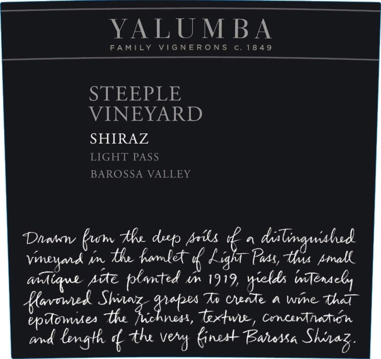 Yalumba Shiraz The Steeple Vineyard